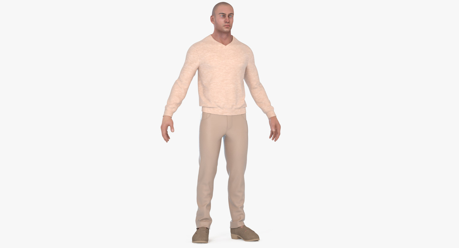 3d model man trousers sweaters