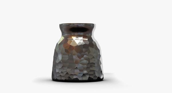 max metal vase dented