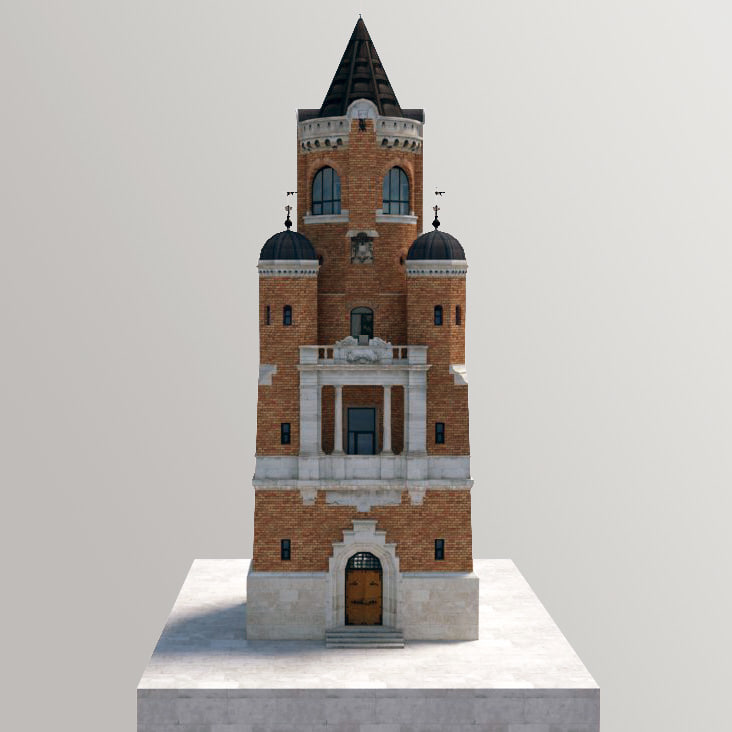 3d tower monument