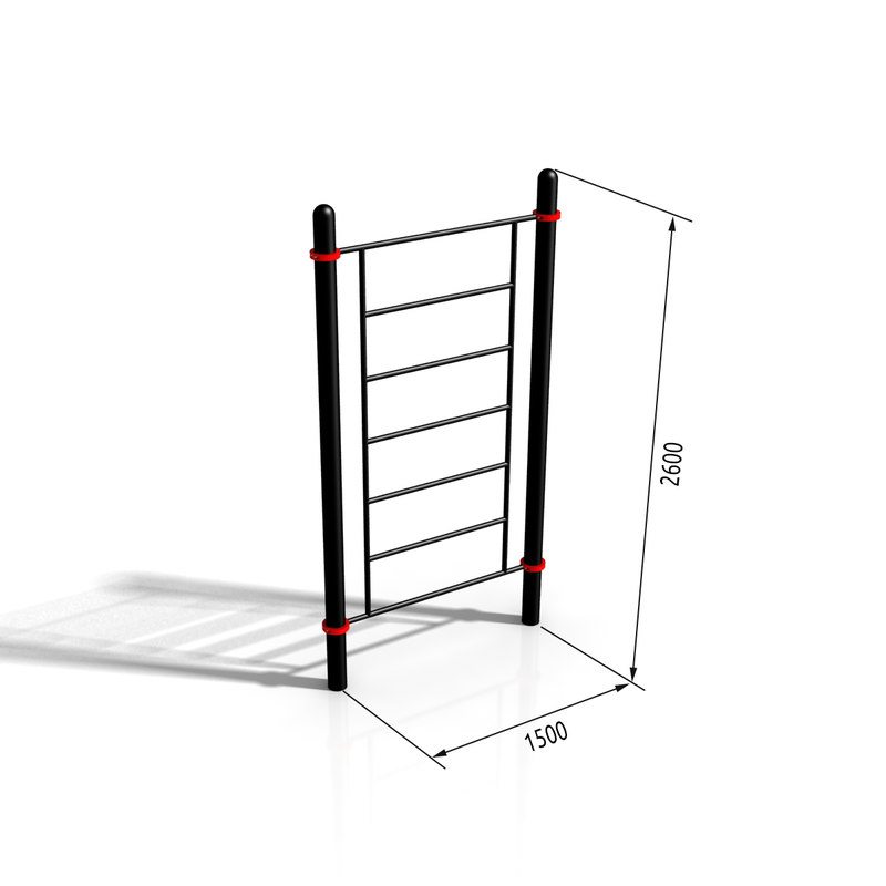 horizontal bar paw-06 3d max
