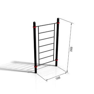 horizontal bar paw-06 3d max