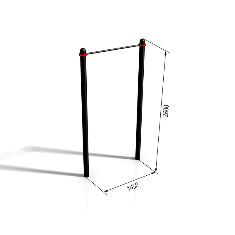 horizontal bar paw-07 3d model