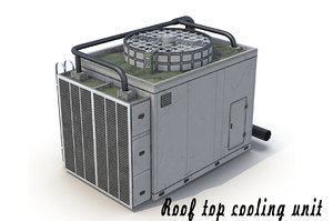 3d roof unit rooftops model