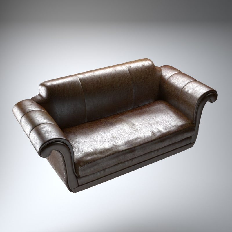 3d regency leather sofa model