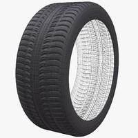3d model wheel tire