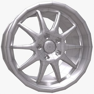 wheel disk 3d max