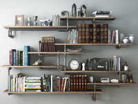 3d model industrial shelves