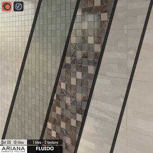 tile ariana fluido mosaico 3d model