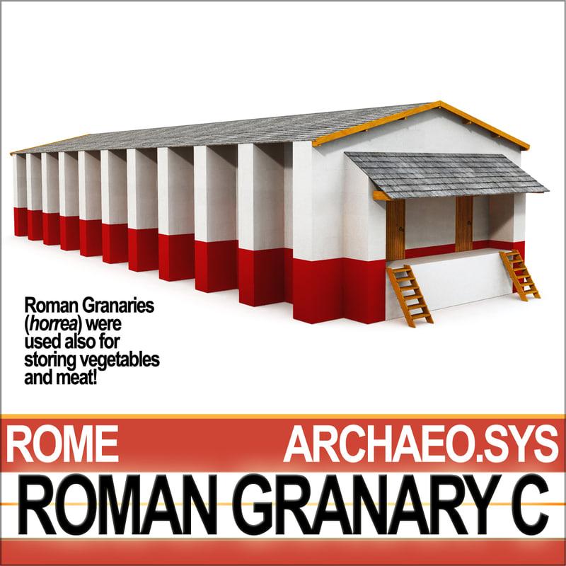 3ds ancient roman granary c
