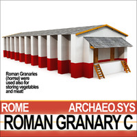 3ds ancient roman granary c
