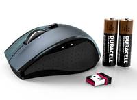 logitech marathon mouse m705 3d obj