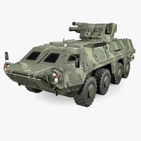 3d model of low-poly btr-4e pbr