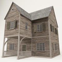 3d max wooden house