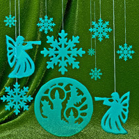 Set snowflakes ice