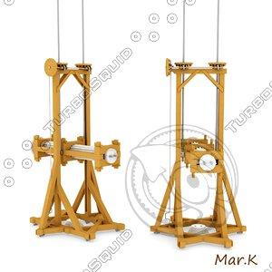 3ds erecting pillars machine