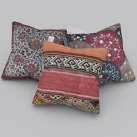 realistic decorative pillows 3d blend