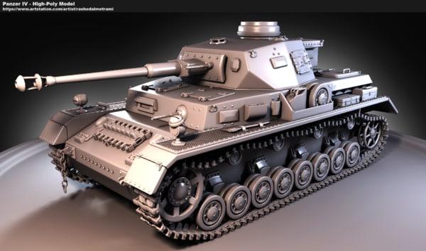 3d iv tank high-poly