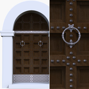 3d model of antique door
