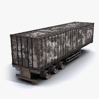 Cargo Trailer Burnt