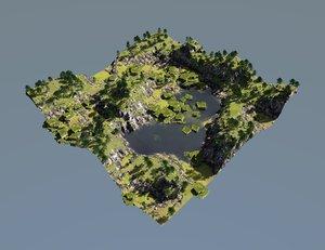 3d green oasis model