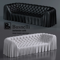 Bohemian sofa for living room by Busnelli factory