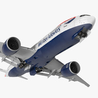 3d model boeing 777 200lr british airways