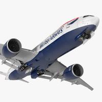 3d model boeing 777 200lr british airways