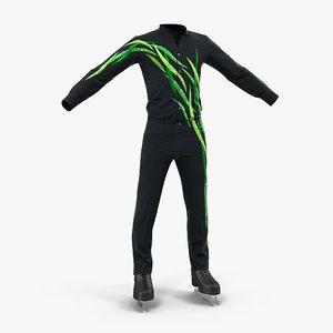 male figure skater costume 3d max