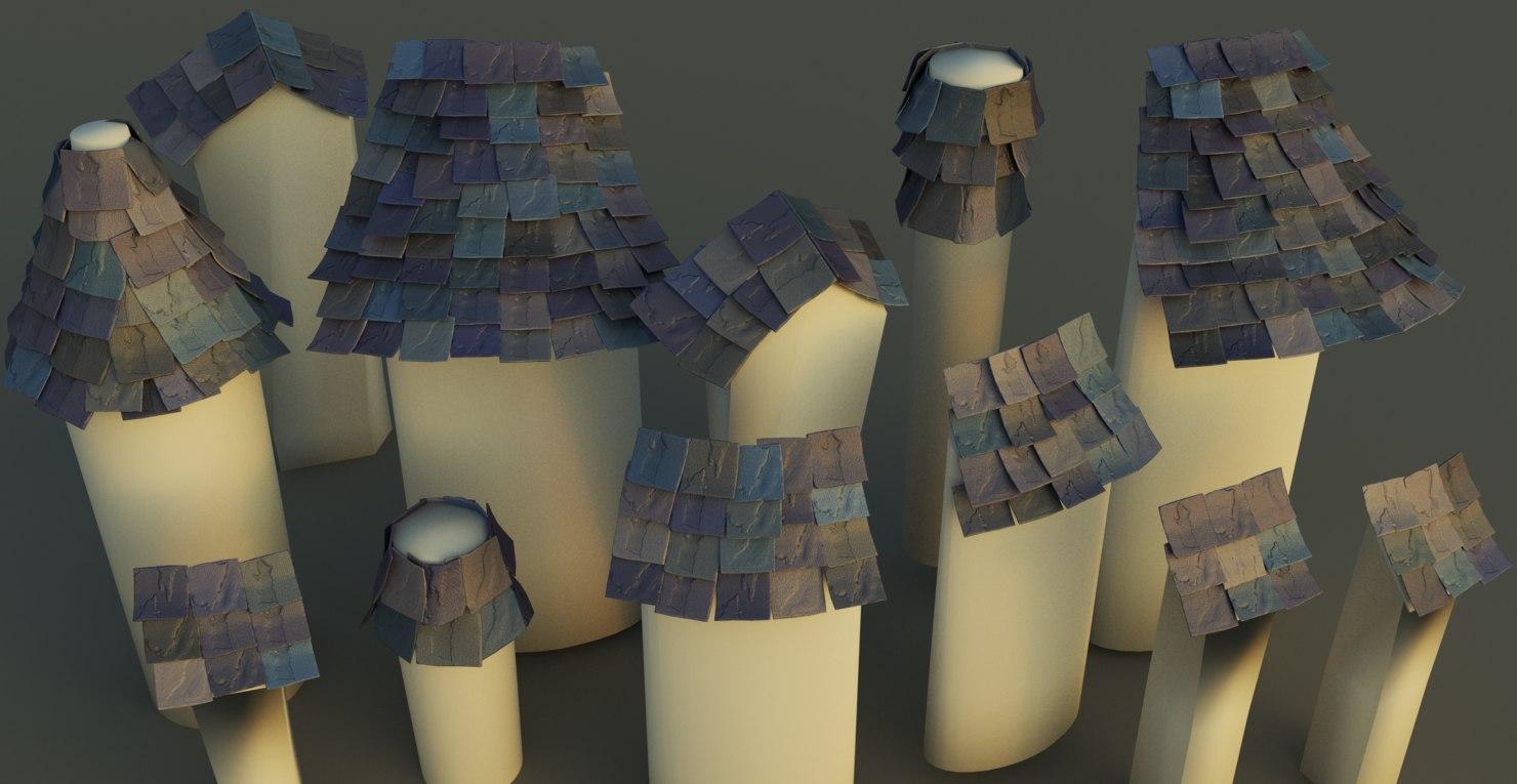 roof cartoon obj