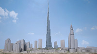 burj khalifa dubai 3d max