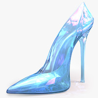 3d max crystal shoes