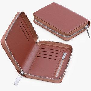 wallet leather 3d model