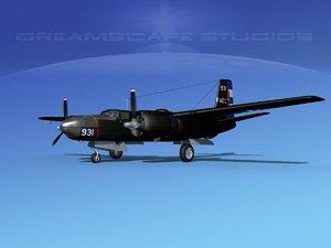 douglas b-26c b-26 bomber 3d model