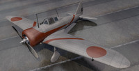 plane nakajima ki-27 type 3d 3ds