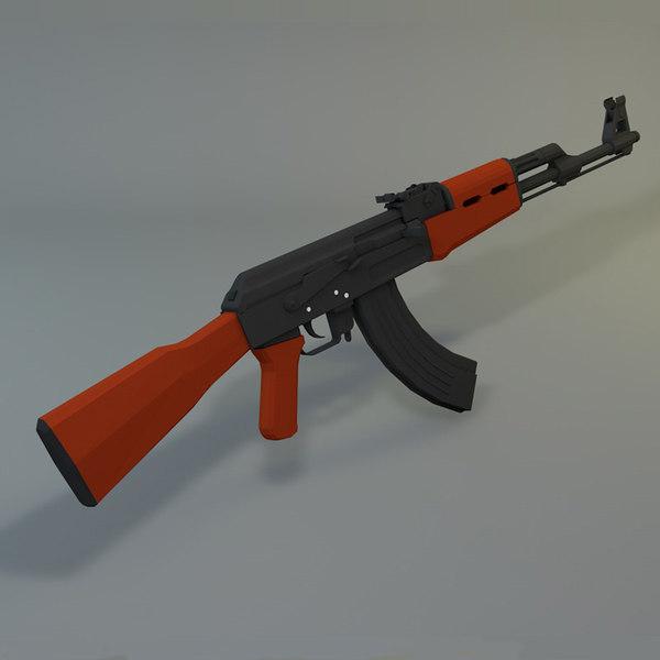 ak-47 3d 3ds