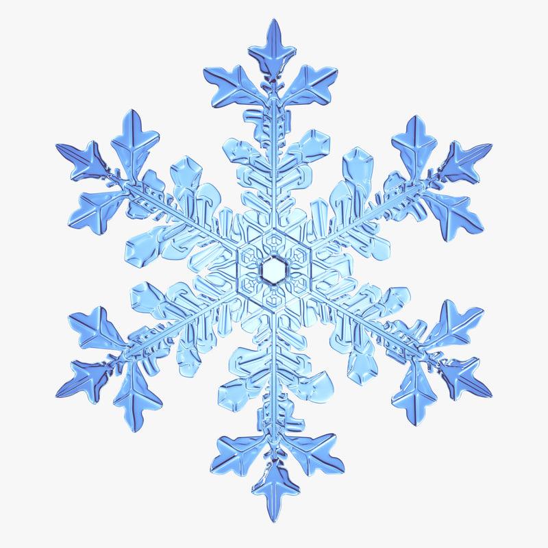 3d snowflake new model