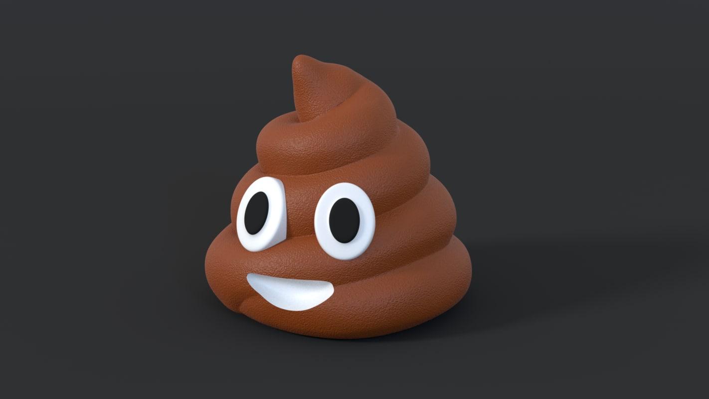 poop emoji printing 3d model