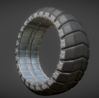 3d futuristic tire old model