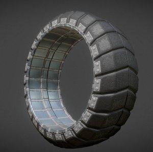 3d futuristic tire old model