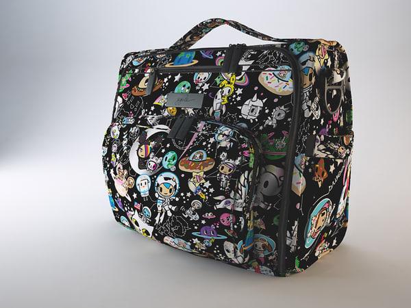 baby bag women 3d model