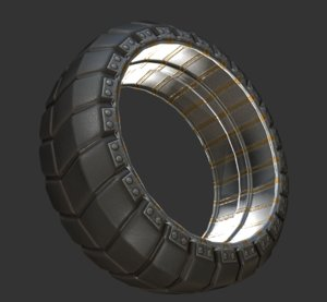futuristic tire basic 3d 3ds