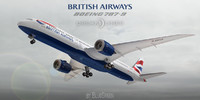 3d boeing 787-9 british airways model