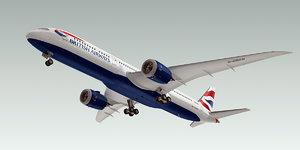 3d boeing 787-9 dreamliner plane