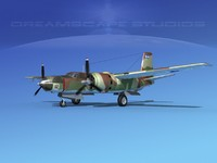 3d douglas b-26c b-26 bomber model