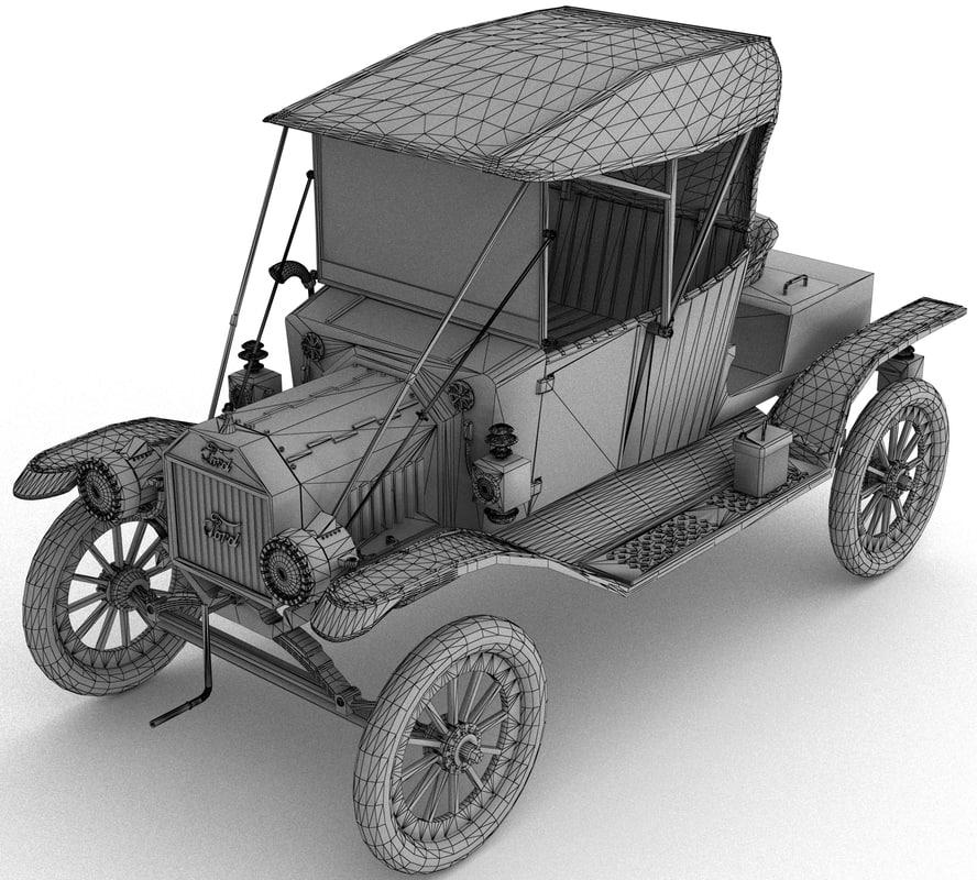 3d model t 1912 modeled