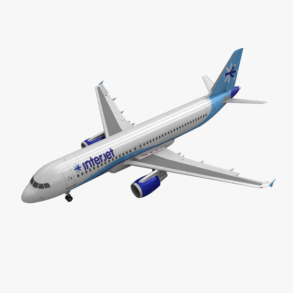 3d model airbus a320 interjet animation