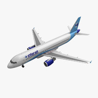 airbus a320 interjet 3d 3ds