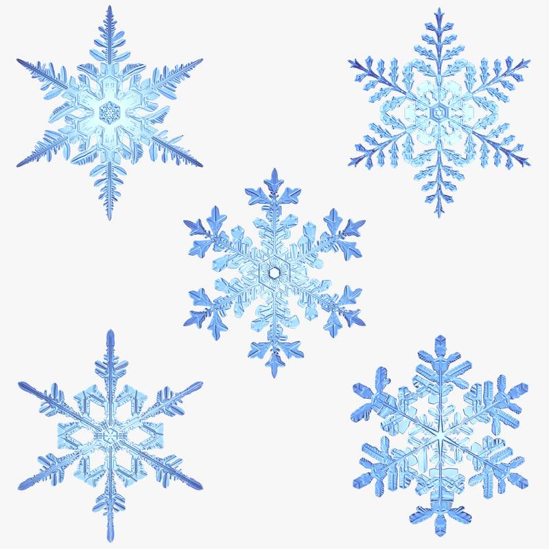 snowflakes new 3d max