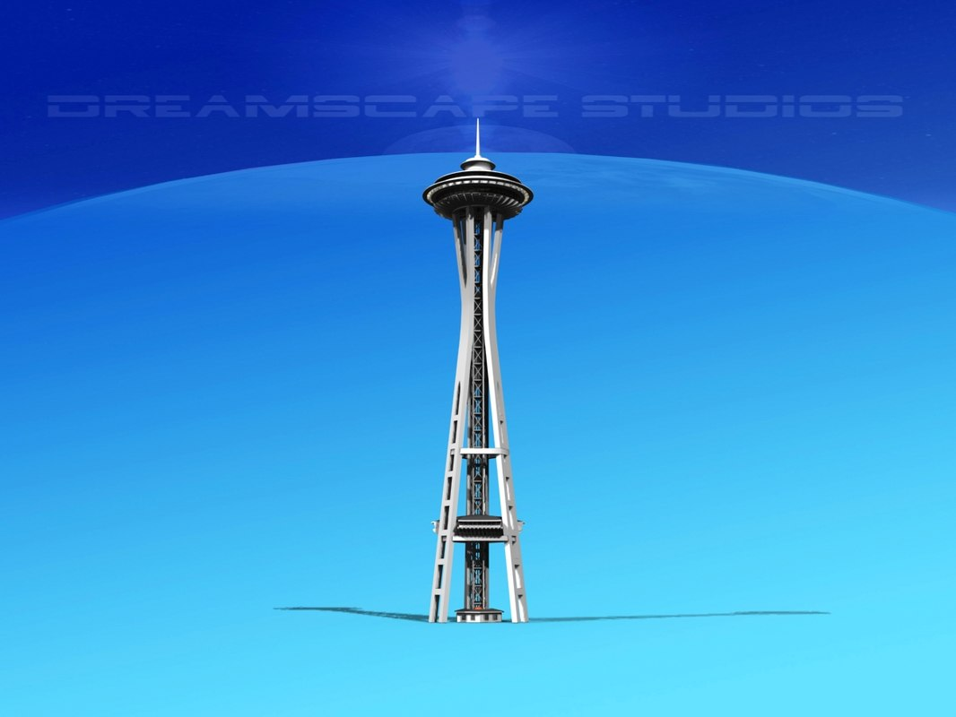 space needle seattle 3d model