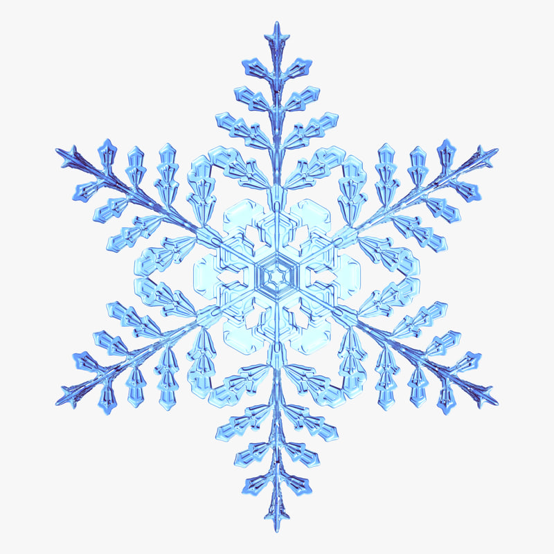 snowflake new 3d obj